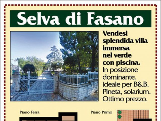 Villa in Vendita a Selva di Fasano Viale Dei Pini