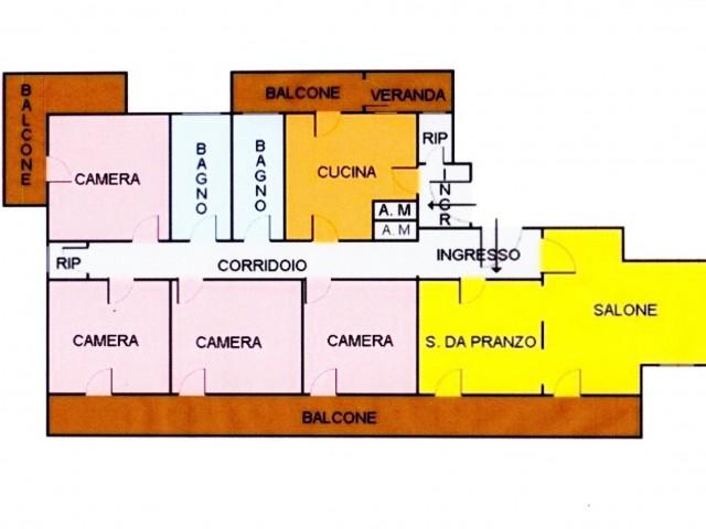 Appartamento in Vendita a Palermo via Leonardo da Vinci 74 Giotto