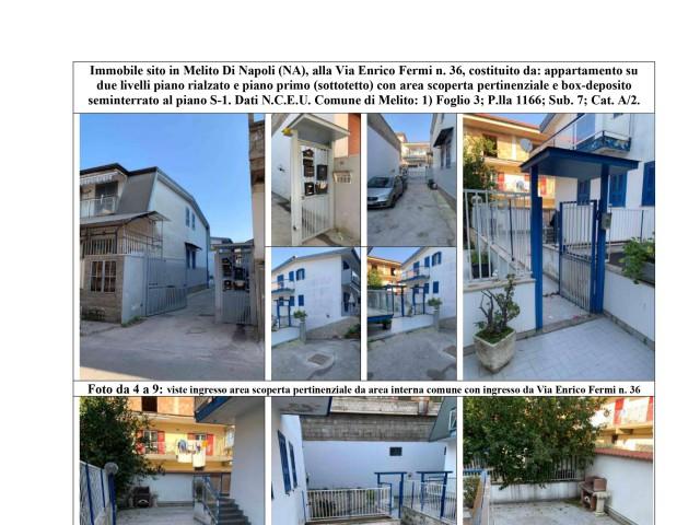 Villa in Vendita a Melito di Napoli via Enrico Fermi n 36 Melito