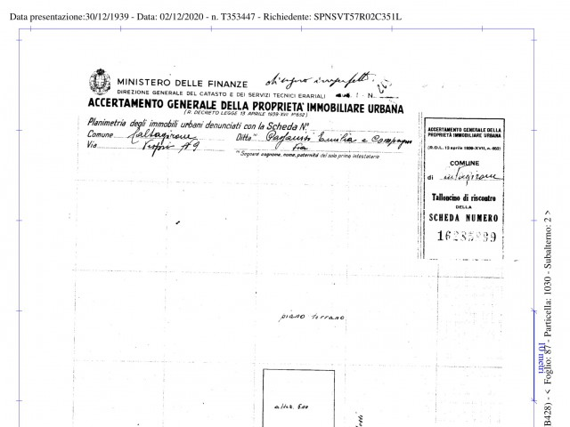Deposito Magazzino in Vendita a Caltagirone via s s Salvatore 12 Centro Storico